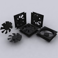 scaled 120mm computer fan dxf