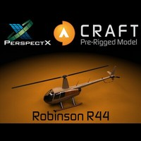 robinson r44 pre-rigged craft 3d 3ds