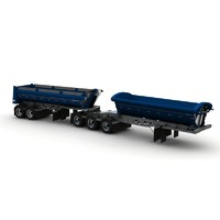 Midland TW3500 SL2000 b-train trailers