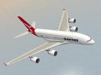 3d model airbus a380-800 qantas a380