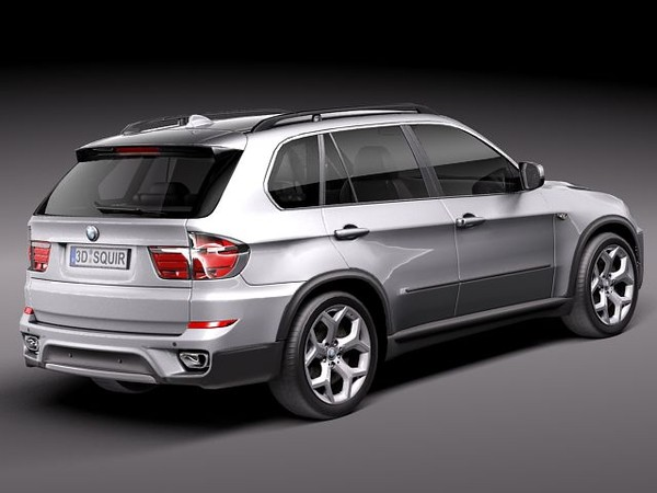 bmw x5 suv 2011 3d 3ds - BMW X5 2011 midpoly... by squir