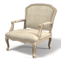 3d model lounge louis chair