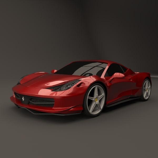 Ferrari 458 italia restyled
