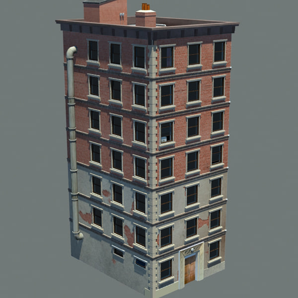 3d apartment building new york model for Apartment model house