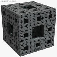3d menger sponge model