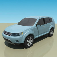 low-poly mitsubishi outlander max