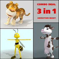 tiger bee cow 3d max