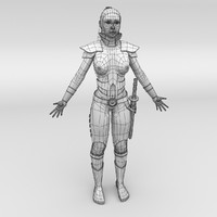 3d c4d warrior female