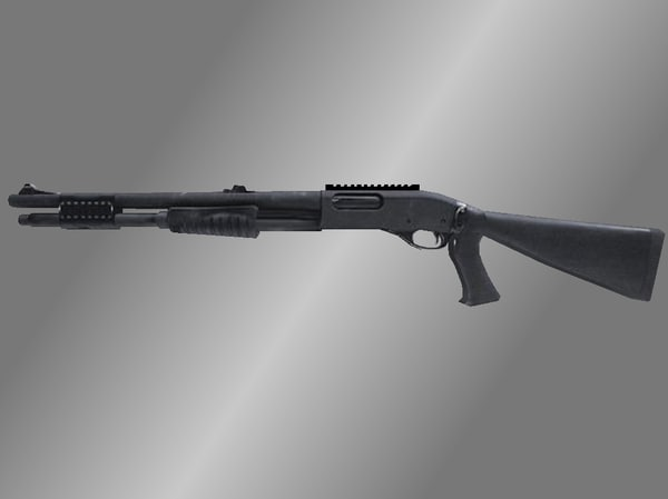 remington 870 tactical shotgun 3d model
