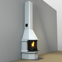 fireplace fires 3d obj
