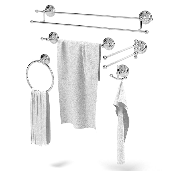 Nicolazzi Monocomandi ACCESSORIES  bathroom towel ring hook holder classic rail two accessory.jpg