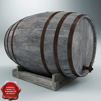 old wine barrel 3d 3ds