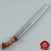 3d rare moro sword model
