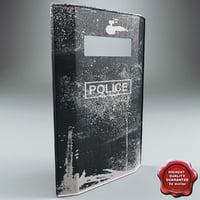 3d model riot shield v2