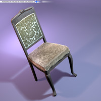 3d rococo chair classic -