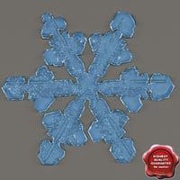 snowflake v2 3d max