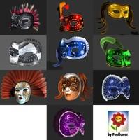 3d model venetian masks