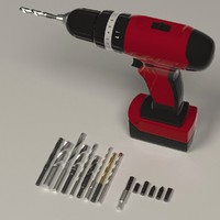 3d model drill machine screwdrivers