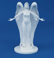 3d model statue angel decoration