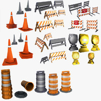 3ds max traffic barricade