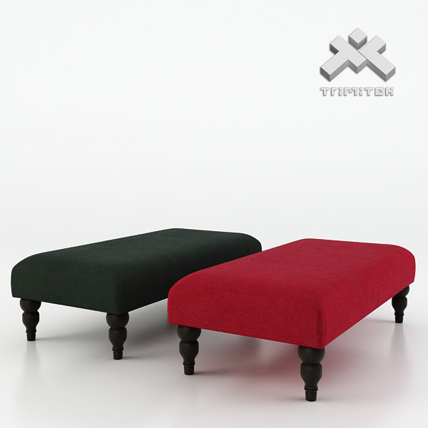 Photorealistic Vaughan Express Footstool