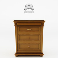3d model photorealistic writing desk -