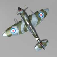 3d british fighter supermarine spitfire model