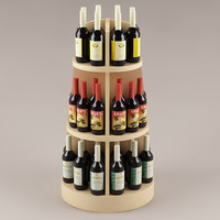 3d model bottles shelf
