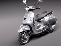 vespa 300 gts super 3d model