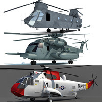 3d model sikorsky sea chinook helicopter