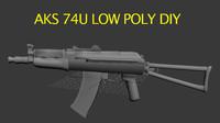 Aks 74u Low Poly DIY
