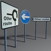 3d model of road signs coz110110629