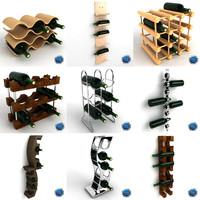 wine rack 3d model