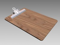 3ds max wood clipboard