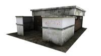 dumpster shelter 3d model