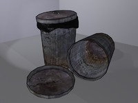 3d model of trash bin