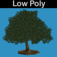 PL Low Poly Oak Tree