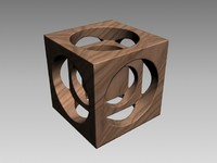 classic wood papereight 3d model