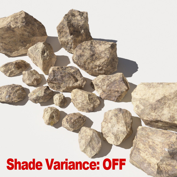 3ds jagged rocks stones - - Rocks 12 Jagged RS56 - Dirty Tan 3D Rocks or Stones... by A_Relevant