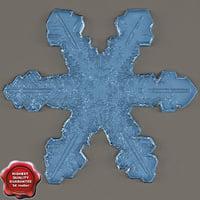 3ds max snowflake v4