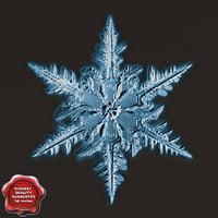 snowflake v5 3d model
