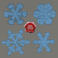 snowflakes v1 3d model