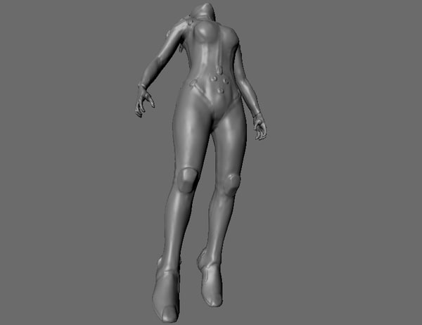 space female 3ds free - Space Girl... by giantformlabs