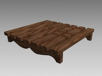 decorative wooden wood 3d 3ds