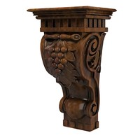 classic corbel traditional grapes wood carving