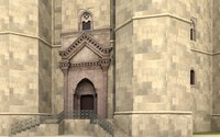 castel del monte apulia 3d c4d