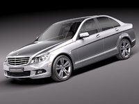 mercedes c sedan car 3d obj