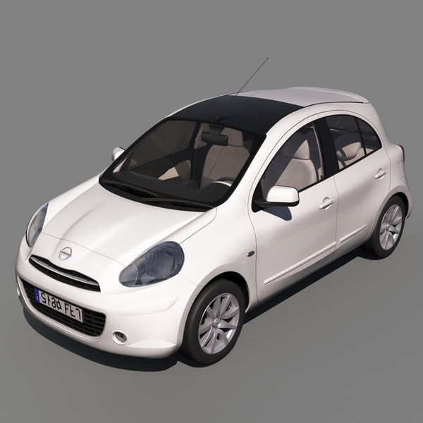 nissan micra 2011 tekna 3d model. Black Bedroom Furniture Sets. Home Design Ideas