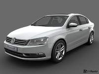 volkswagen passat sedan 2011 3d model