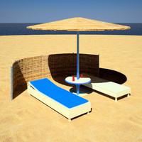 3d sunbed sun model